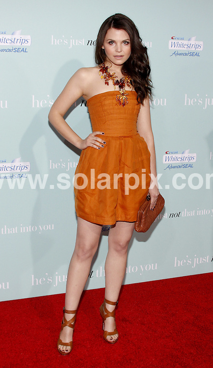 "**ALL ROUND PICTURES FROM SOLARPIX.COM**.**SYNDICATION RIGHTS FOR UK, AUSTRALIA, DENMARK, PORTUGAL, S. AFRICA, SPAIN & DUBAI (U.A.E) ONLY**.arrivals for the world premiere of ""He's Just Not That Into You"". Held at the Grauman's Chinese Theater, Hollywood, California, USA. 2 February 2009..This pic: Ginnifer Goodwin..JOB REF: 8387 PHZ (Gabber)  DATE: 02_02_2009 .**MUST CREDIT SOLARPIX.COM OR DOUBLE FEE WILL BE CHARGED* *ONLINE USAGE FEE £50.00 PER PICTURE - NOTIFICATION OF USAGE TO PHOTO@SOLARPIX.COM*"