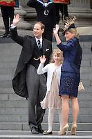 LONDRES, INGLATERRA, 05 DE JUNHO 2012 - JUBILEU DE DIAMANTE DA RAINHA ELIZABETH - O principe Edward e sua esposa a Condessa de Wessex Sophia e sua filha Lady Louise Windsor chegam a Catedral de Sao Paulo durante o Jubileu de Diamante da Rainha Elizabeth em Londres capital do Reino Unido, nesta terça-feira, 05. (FOTO: BILLY CHAPPEL / ALFAQUI / BRAZIL PHOTO PRESS)