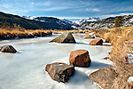 Winter view in the Moraine Park Valley of Rocky Mountain National Park.