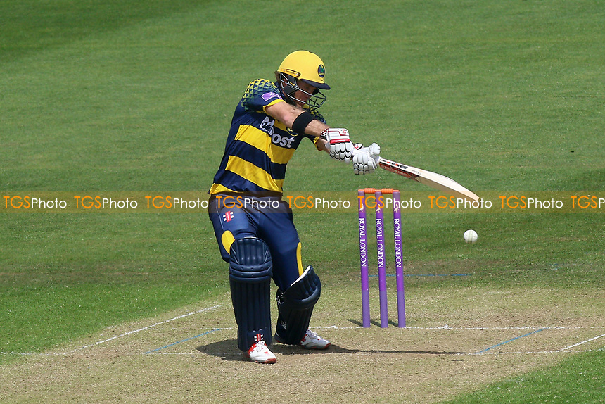 Colin Ingram in batting action for Glamorgan during Glamorgan vs Essex Eagles, Royal London One-Day Cup Cricket at the SSE SWALEC Stadium on 7th May 2017