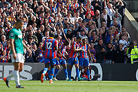 Patrick van Aanholt of Crystal Palace celebrates his goal during the EPL - Premier League match between Crystal Palace and West Bromwich Albion at Selhurst Park, London, England on 13 May 2018. Photo by Carlton Myrie / PRiME Media Images.