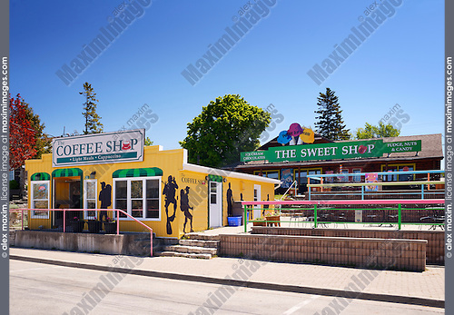 Coffee shop and The sweet shop in Tobermory, Ontario, Canada
