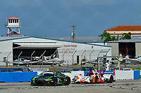 IMSA WeatherTech SportsCar Championship<br /> Sebring February Test<br /> Sebring, Florida, USA<br /> Thursday 22 February 2018<br /> #44 Magnus Racing Audi R8 LMS GT3, GTD: John Potter, Andy Lally, Andrew Davis, #54 CORE autosport ORECA LMP2, P: Jon Bennett, Colin Braun<br /> World Copyright: Richard Dole<br /> LAT Images