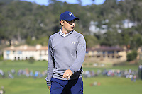 Jordan Spieth (USA) on the 6th green at Pebble Beach Golf Links during Saturday's Round 3 of the 2017 AT&amp;T Pebble Beach Pro-Am held over 3 courses, Pebble Beach, Spyglass Hill and Monterey Penninsula Country Club, Monterey, California, USA. 11th February 2017.<br /> Picture: Eoin Clarke | Golffile<br /> <br /> <br /> All photos usage must carry mandatory copyright credit (&copy; Golffile | Eoin Clarke)