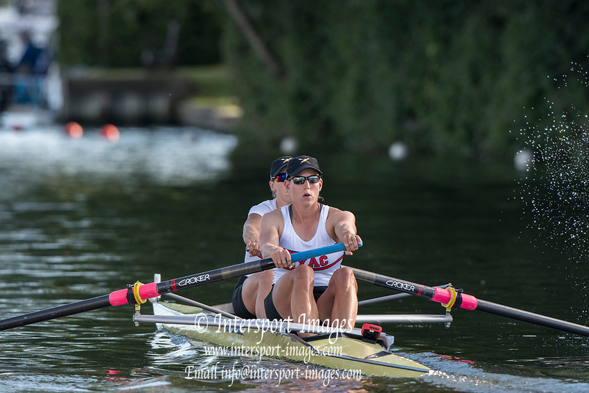 Henley-on-Thames. Women's Pair, New York Athletic Club [NWAC]. USA. United Kingdom.  2017 Henley Royal Regatta, Henley Reach, River Thames. <br /> <br /> <br /> 15:29:51  Saturday  01/07/2017   <br /> <br /> [Mandatory Credit. Peter SPURRIER/Intersport Images., <br /> 15:29:51  Saturday  01/07/2017   <br /> <br /> [Mandatory Credit. Peter SPURRIER/Intersport Images.