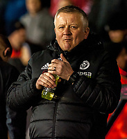 Sheffield United's manager Chris Wilder during the Sky Bet Championship match between Sheff United and Queens Park Rangers at Bramall Lane, Sheffield, England on 20 February 2018. Photo by Stephen Buckley / PRiME Media Images.
