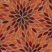 Blossom, a water jet jewel glass mosiac, shown in Sardonyx, Ruby, and Carnelian is part of the Ann Sacks Beau Monde collection sold exclusively at www.annsacks.com