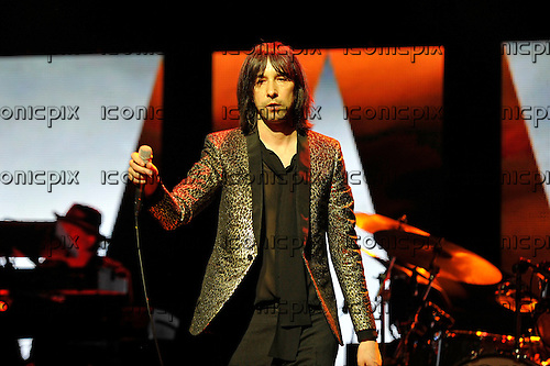 PRIMAL SCREAM - vocalist Bobby Gillespie - performing live at the Palladium in London UK - 01 Apr 2016.  Photo credit: Zaine Lewis/IconicPix