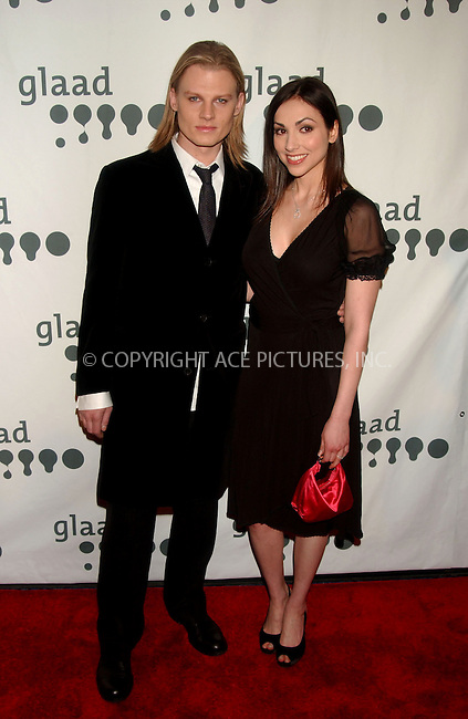 WWW.ACEPIXS.COM . . . . .....March 26, 2007. New York City.....Jeffery Carlson and Eden Riegel arrive at the 18th Annual GLAAD Media Awards held at the Marriott Marquis Hotel.......Please byline: Kristin Callahan - ACEPIXS.COM..... *** ***..Ace Pictures, Inc:  ..Philip Vaughan (646) 769 0430..e-mail: info@acepixs.com..web: http://www.acepixs.com