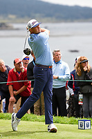 Patton Kizzire (USA) watches his tee shot on 13 during round 2 of the 2019 US Open, Pebble Beach Golf Links, Monterrey, California, USA. 6/14/2019.<br /> Picture: Golffile | Ken Murray<br /> <br /> All photo usage must carry mandatory copyright credit (© Golffile | Ken Murray)