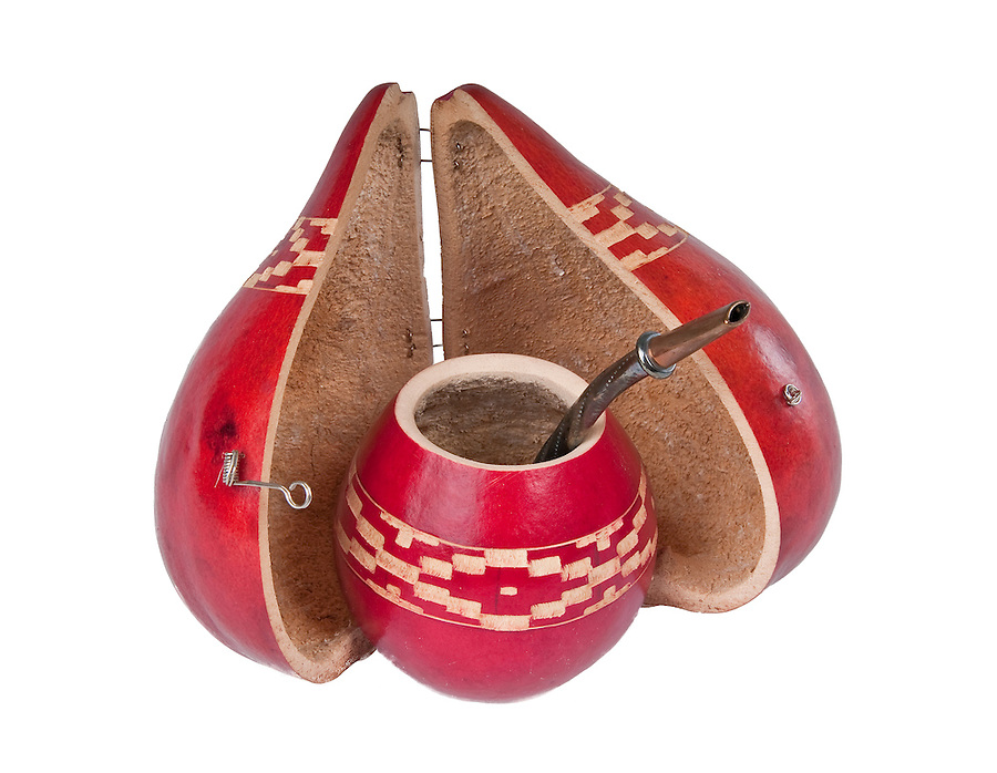 Close up of calabash cup for mate. Mate is a traditional drink very similar to tea in Argentina, Uruguay, Paraguay and some parts of Brazil.