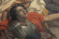 St Paul struck blind on the road to Damascus, hearing the voice of God and converting instantly to Christianity, detail, painting, 1850, by Michel-Martin Drolling, 1786-1851, in the church of Saint-Sulpice, built 1646-1870, in the 6th arrondissement of Paris, France. Picture by Manuel Cohen