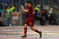 Alessandro Florenzi of AS Roma reacts during the Serie A 2018/2019 football match between AS Roma and AC Milan at stadio Olimpico, Roma, February 3, 2019 <br />  Foto Andrea Staccioli / Insidefoto