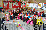 Junior infants from Listellick national school took part in the Santa Hats fundraiser organised by students from Brookfield College.