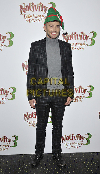 LONDON, ENGLAND - NOVEMBER 02: Jake Quickenden attends the &quot;Nativity 3: Dude, Where's My Donkey&quot; UK film premiere, Vue West End cinema, Leicester Square, on Sunday November 02, 2014 in London, England, UK. <br /> CAP/CAN<br /> &copy;Can Nguyen/Capital Pictures
