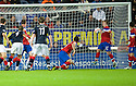 RANGERS' GREGG WYLDE CLEARS OFF THE LINE