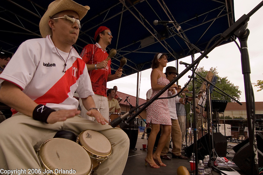 Members of the band Quemando, perform at the SOBO Summerfest in Boulder, CO, June 3, 2006.