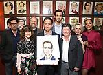 Reg Rogers, Sarah Stiles, Andy Grotelueschen, Santino Fontana, John Behlmann, Michael McGrath, Julie Halston and Lilli Cooper during the Santino Fontana portrait unveiling at Sardi's on May 21, 2019 in New York City.
