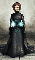 The grand sorceress Morgana, as played by Alice Krige.