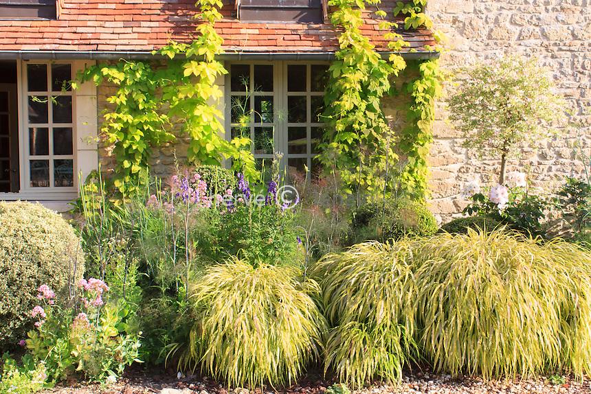 Jardins du pays d'Auge (mention obligatoire dans la légende ou le crédit photo):.la cour de la ferme