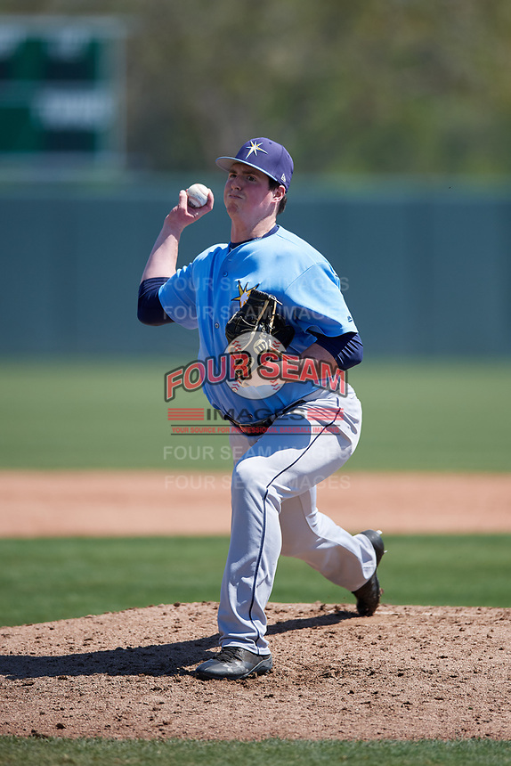 Tampa Bay Rays pitcher Garrett Fulenchek (46) during a Minor League Spring Training game against the Minnesota Twins on March 15, 2018 at CenturyLink Sports Complex in Fort Myers, Florida.  (Mike Janes/Four Seam Images)