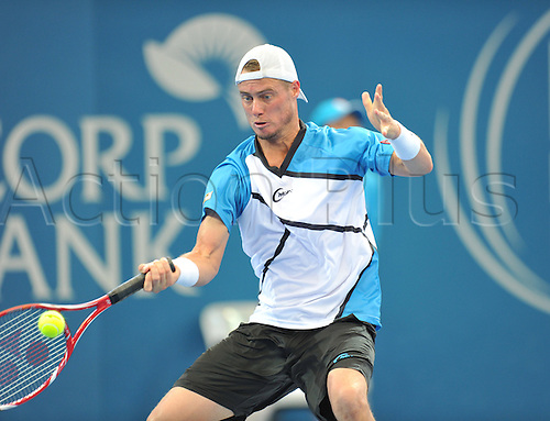 04.01.2014. Brisbane, Australia.  LLEYTON HEWITT  Action from day 7 of the Brisbane International tennis tournament.