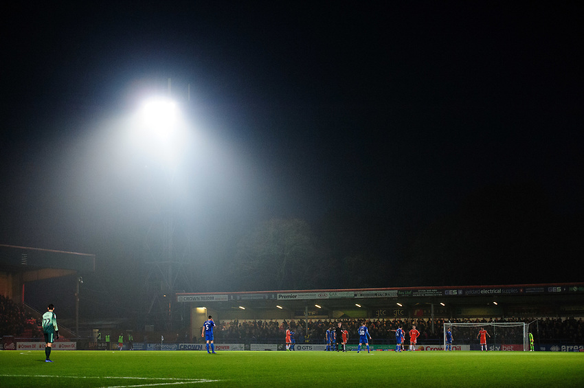 A general view of Spotland Stadium, home of Rochdale FC<br /> <br /> Photographer Chris Vaughan/CameraSport<br /> <br /> The EFL Sky Bet League One - Rochdale v Blackpool - Wednesday 26th December 2018 - Spotland Stadium - Rochdale<br /> <br /> World Copyright © 2018 CameraSport. All rights reserved. 43 Linden Ave. Countesthorpe. Leicester. England. LE8 5PG - Tel: +44 (0) 116 277 4147 - admin@camerasport.com - www.camerasport.com