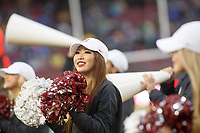 Stanford, CA - November 30, 2019: Cheerleaders during the Stanford vs Notre football game at Stanford Stadium Saturday.<br /> <br /> Notre Dame won 45-24.