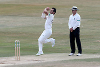 Lewis Gregory in bowling action for Somerset during Essex CCC vs Somerset CCC, Specsavers County Championship Division 1 Cricket at The Cloudfm County Ground on 28th June 2018