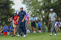 Tyrrell Hatton (ENG) and Tiger Woods (USA) head down 16 during round 3 of the World Golf Championships, Mexico, Club De Golf Chapultepec, Mexico City, Mexico. 2/23/2019.<br /> Picture: Golffile | Ken Murray<br /> <br /> <br /> All photo usage must carry mandatory copyright credit (© Golffile | Ken Murray)