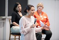 Maricela Martinez speaks.<br />