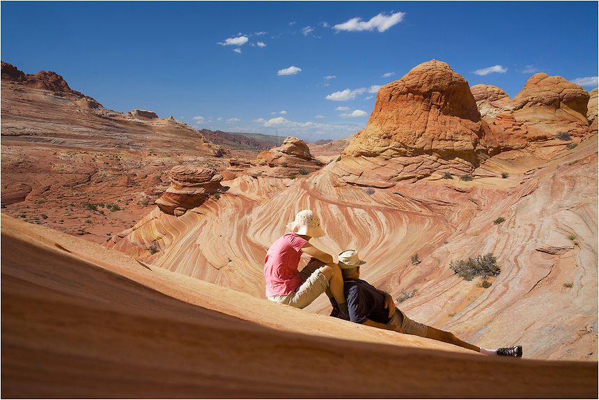 Enjoying the view of North Coyote Buttes... everywhere you hike brings a new and interesting formation.