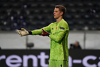 Torwart Jonas Omlin (FC Basel) - 12.03.2020: Eintracht Frankfurt vs. FC Basel, UEFA Europa League, Achtelfinale, Commerzbank Arena<br /> DISCLAIMER: DFL regulations prohibit any use of photographs as image sequences and/or quasi-video.