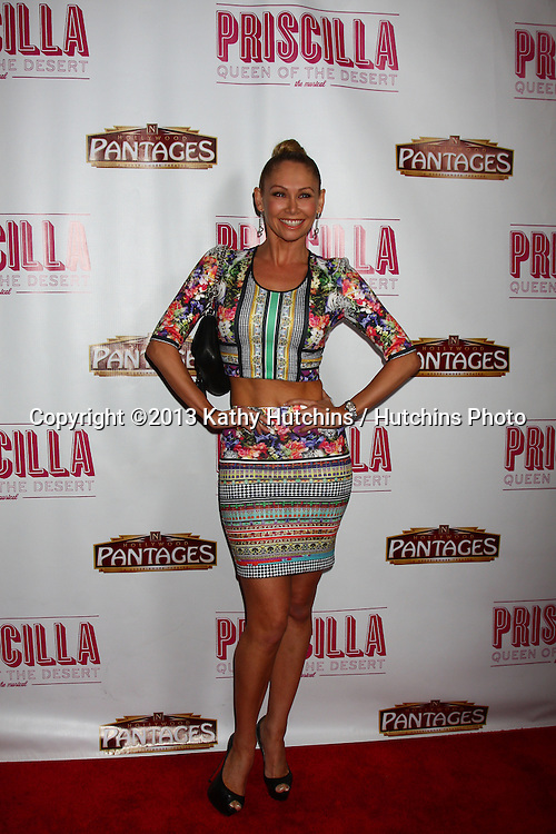 "LOS ANGELES - MAY 29:  Kym Johnson arrives at  the ""Priscilla Queen of the Desert"" Play Opening at the Pantages Theater on May 29, 2013 in Los Angeles, CA"