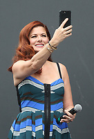 UNIVERSAL CITY, CA - AUGUST 2: Debra Messing at the Will & Grace Start Of Production Kick-Off Event at Universal City Plaza, California on August 2, 2017. Credit: Faye Sadou/MediaPunch
