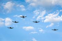 Switzerland, Canton Valais, Sion: flying squadron | Schweiz, Kanton Wallis, Sion (Sitten): Fliegerstaffel