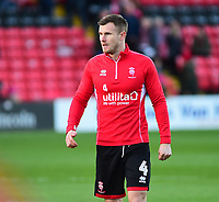 Lincoln City's Michael O'Connor during the pre-match warm-up<br /> <br /> Photographer Andrew Vaughan/CameraSport<br /> <br /> The EFL Sky Bet League Two - Lincoln City v Port Vale - Tuesday 1st January 2019 - Sincil Bank - Lincoln<br /> <br /> World Copyright © 2019 CameraSport. All rights reserved. 43 Linden Ave. Countesthorpe. Leicester. England. LE8 5PG - Tel: +44 (0) 116 277 4147 - admin@camerasport.com - www.camerasport.com