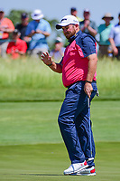 Shane Lowry (IRL) after sinking his putt on 11 during Thursday's round 1 of the 117th U.S. Open, at Erin Hills, Erin, Wisconsin. 6/15/2017.<br /> Picture: Golffile | Ken Murray<br /> <br /> <br /> All photo usage must carry mandatory copyright credit (&copy; Golffile | Ken Murray)