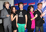Tommy Walker, Leslie Kritzer, Perez Hilton, Christine Pedi, Michael West   attending the Opening Night Performance of Perez Hilton in 'NEWSical The Musical' at the Kirk Theatre  in New York City on September 17, 2012.