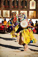 Masked dancers at the Black Crane festival