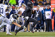 PHILADELPHIA, PA - DEC 8, 2018: Army Black Knights quarterback Kelvin Hopkins Jr. (8) breaks free for a nice gain late in the fourth quarter of game between Army and Navy at Lincoln Financial Field in Philadelphia, PA. Army defeated Navy 17-10 to win the Commander in Chief Cup. (Photo by Phil Peters/Media Images International)