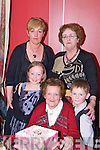 4 Generations at Benners Hotel on Saturday night - Nellie Evans who celebrated her 90th birthday with her daughter Eileen Hannon, her daughter Claire Clancy and her son Cian Clancy.
