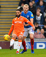 Liam Feeney of Blackpool holds the ball up from Jack Whatmough of Portsmouth during Portsmouth vs Blackpool, Sky Bet EFL League 1 Football at Fratton Park on 12th January 2019
