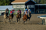 September 21, 2019 : #1, Math Wizard, ridden by jockey Irad Ortiz, Jr., comes wide around the turn before winning the Pennsylvania Derby during Pennsylvania Derby Day at PARX Racing and Casino in Bensalem, Pennsylvania. Sydney Serio/Eclipse Sportswire/CSM