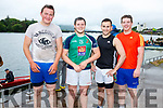 Valentia scoop gold in the Senior Mens race at the Cahersiveen regatta on Sunday with Callinafercy in seccond and Fenit in third, pictured here the Valentia crew l-r; David Moriarty, Declan Moran, Jeremiah Moran & Brian Curran, cox was Dermot Walsh.