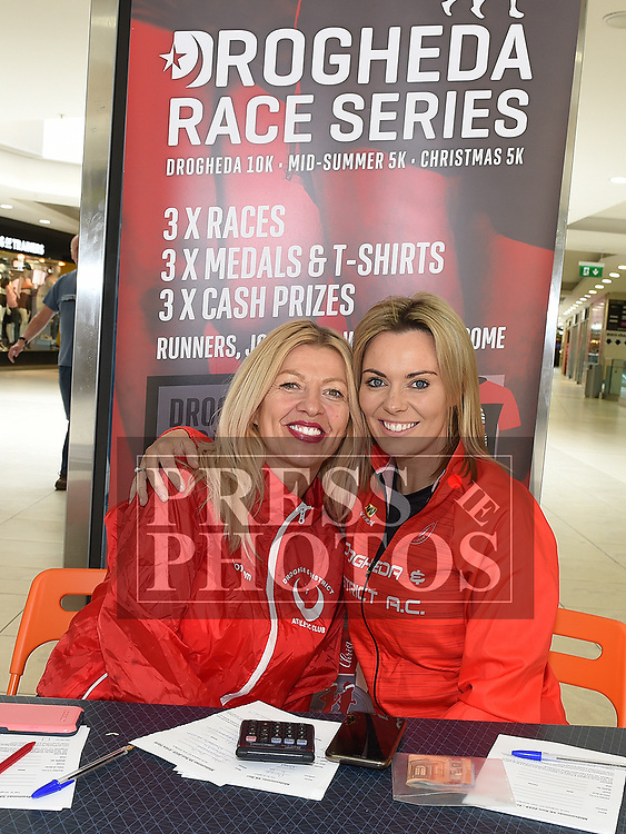 Angela Campbell and Jennifer Gregory promoting the upcoming Drogheda Mid-Summer 5k in The Laurence Centre. Photo:Colin Bell/pressphotos.ie