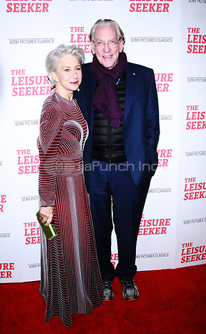 NEW YORK, NY January 11, 2018: Helen Mirren, Donald Sutherland attend Sony Pictures Classics  present screening of The Leisure Seeker  at AMC Loews Lincoln Square  in New York City.January  11, 2018. Credit:RW/MediaPunch