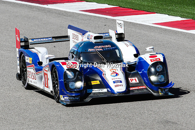 Anthony Davidson (8), Toyota Racing driver in action during the World Endurance Championship Race (FIA/WEC) at the Circuit of the Americas race track in Austin,Texas.
