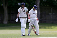 J Overy of Brondesbury (L) during Finchley CC vs Brondesbury CC (batting), ECB National Club Championship Cricket at Arden Field on 12th May 2019