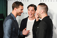 "Jamie Dornan, Cillian Murphy and director Sean Ellis<br /> arrives for the ""Anthropoid"" premiere at the BFI Southbank , London.<br /> <br /> <br /> ©Ash Knotek  D3147  30/08/2016"